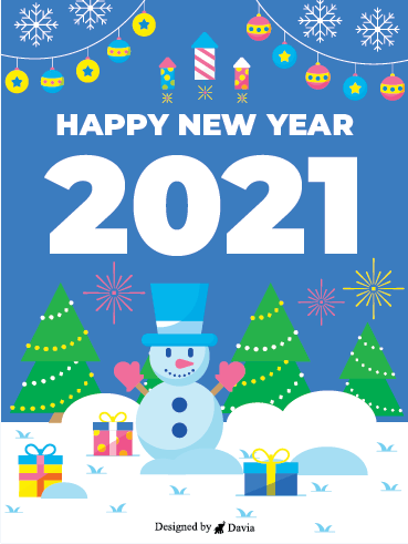 Snowy New Year – Happy New Year Cards
