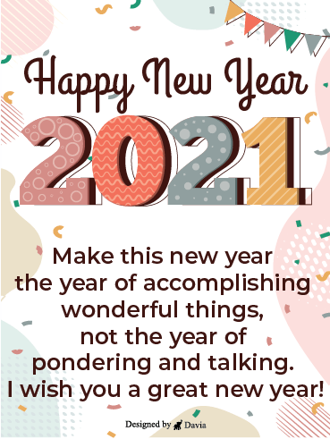 A Great New Year – Happy New Year Cards