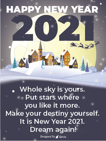 New Year New Dream – Happy New Year Cards