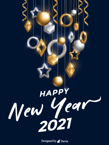 Shining New Year – Happy New Year Cards
