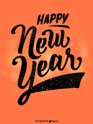 Sparkling New Year – Happy New Year Cards
