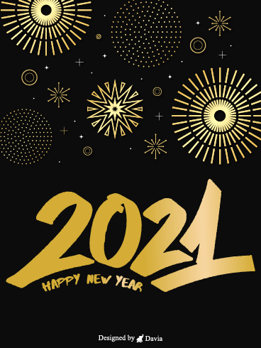 Dazzling New Year – Happy New Year Cards