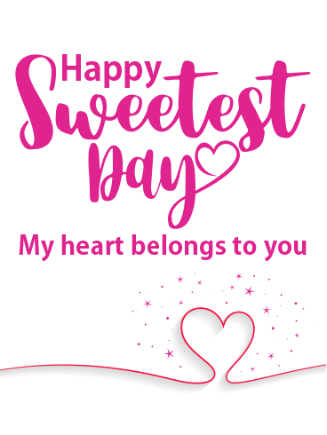 Heart & Heart – HAPPY SWEETEST DAY CARDS