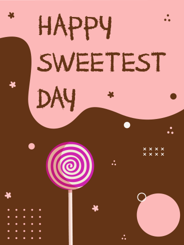 Pink & Choco – HAPPY SWEETEST DAY CARDS