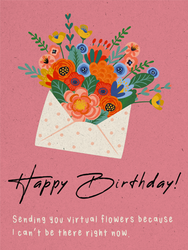 Flower In A Mail –  Newly Added Birthday Cards