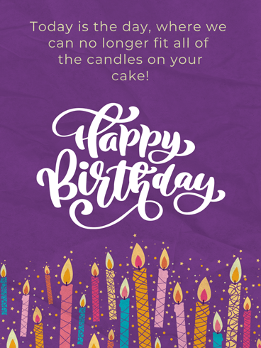 Full of Candles –  Newly Added Birthday Cards