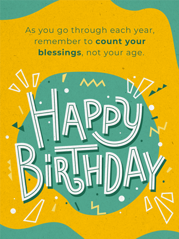 Sending Blessings –  Newly Added Birthday Cards
