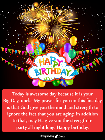 Fireworks – Birthday For Uncle Cards