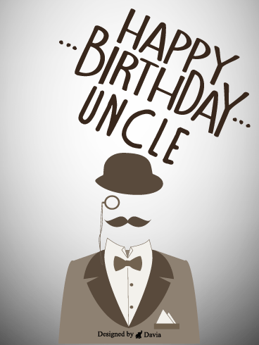 Man – Birthday For Uncle Cards