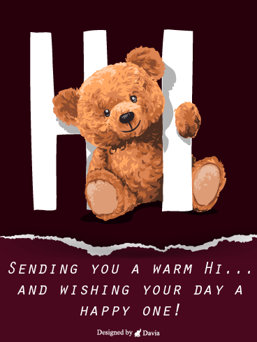 Bear & Hi – Saying Hi Cards
