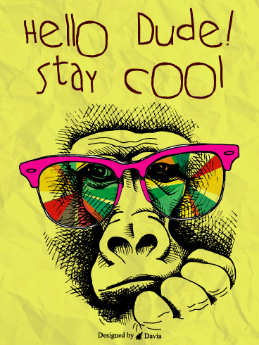 Cool Dude – Saying Hi Cards