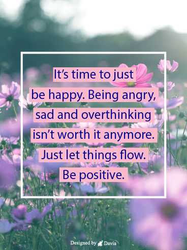 Stop Overthinking – Positive Quotes Cards