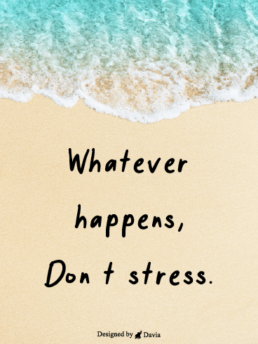 Don't Stress – Positive Quotes Cards