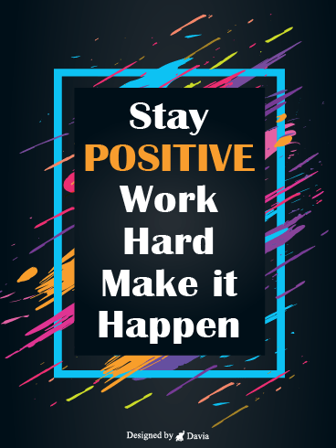 Make It Happen – Positive Quotes Cards