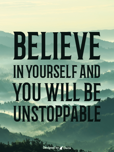Believe In Yourself – Positive Quotes Cards