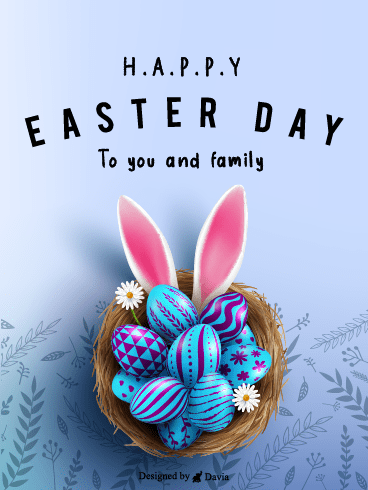 Eggs in a Nest – Easter Day Cards