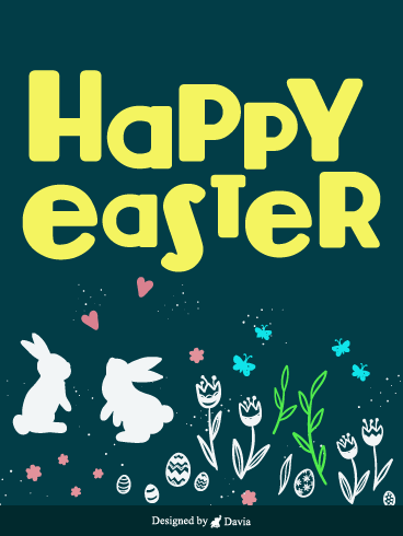 Bunny On A Date – Easter Day Cards