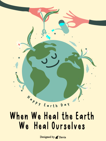 Heal The World – Earth Day Cards
