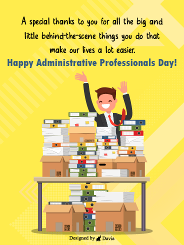 Admin For The Win – Happy Administrative Professionals Day Cards