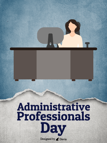 At The Desk – Happy Administrative Professionals Day Cards