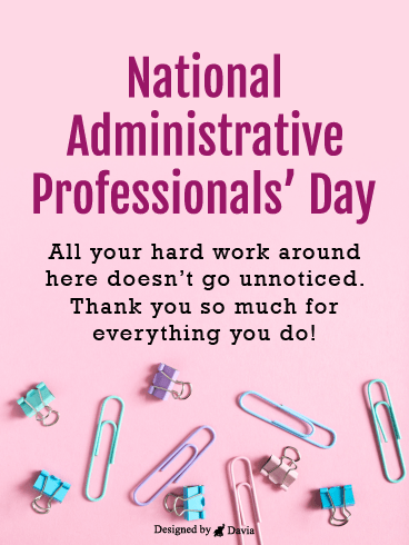 Clips & More – Happy Administrative Professionals Day Cards