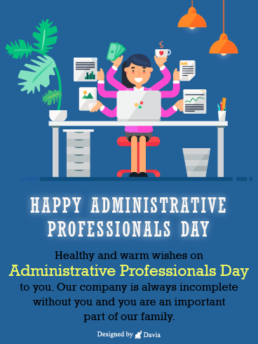 Multitasking Professionals – Happy Administrative Professionals Day Cards