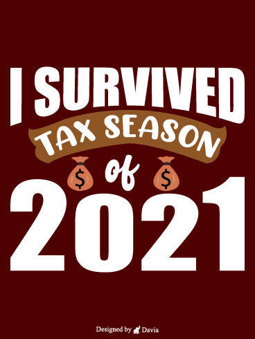 I Survived – Tax Day Cards