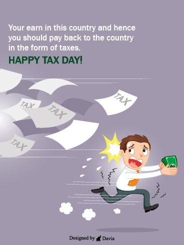 Chased By Taxes – Tax Day Cards
