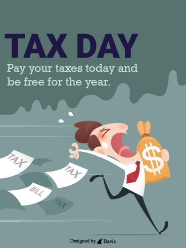 Pay Up For Freedom – Tax Day Cards