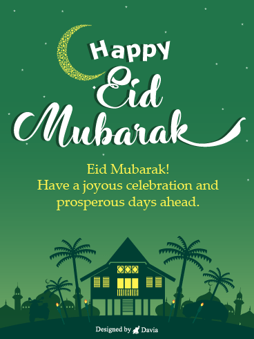 Village Celebration – Happy Eid Day Cards
