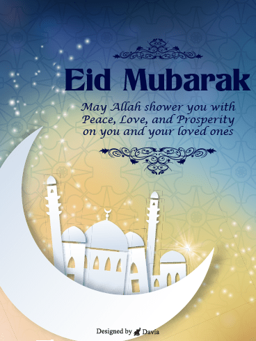 Blessings of Love – Happy Eid Day Cards