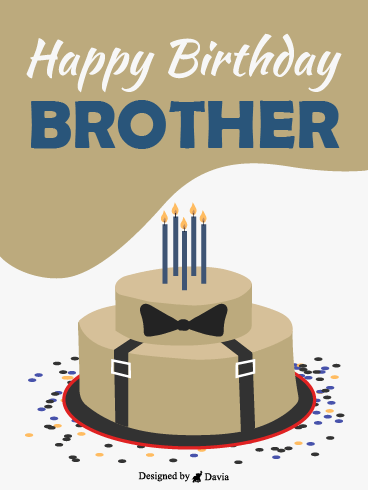 Gentleman Cake – Happy Birthday Brother Cards