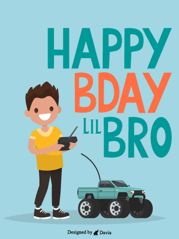 Remote Control Car – Happy Birthday Brother Cards