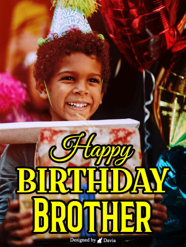 Sweet Smile – Happy Birthday Brother Cards