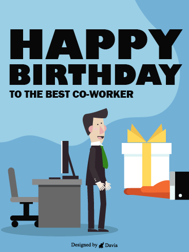 A Huge Gift – Happy Birthday Co-Worker Cards