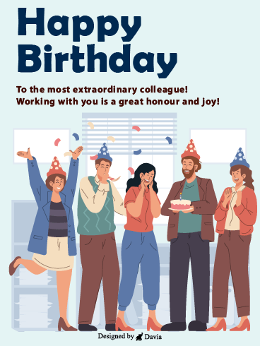 Office Celebration– Happy Birthday Co-Worker Cards