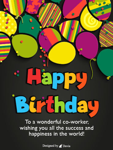 Colorful & Wonderful – Happy Birthday Co-Worker Cards