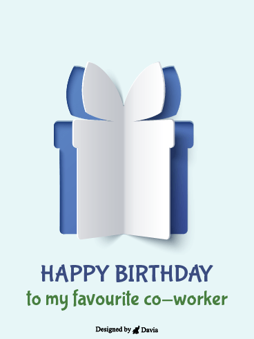 Popup Gift – Happy Birthday Co-Worker Cards