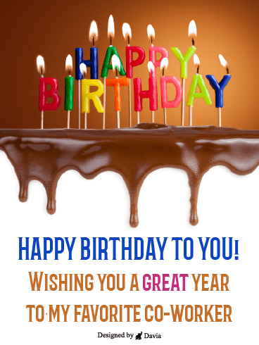 Chocolatey Birthday – Happy Birthday Co-Worker Cards