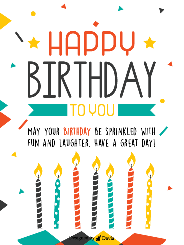 Sprinkled With Laughter – Newly Added Birthday Cards
