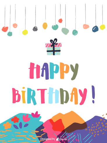 Colorful Birthday – Newly Added Birthday Cards