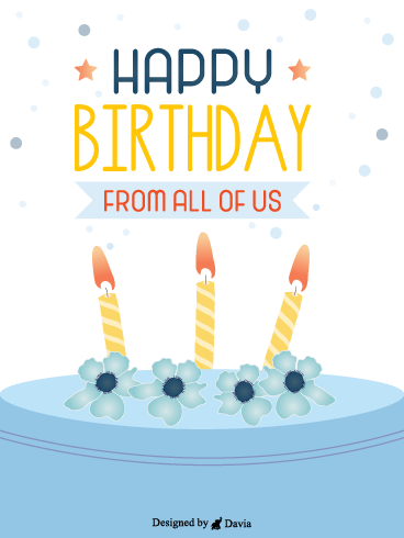 Blue Cake – Newly Added Birthday Cards