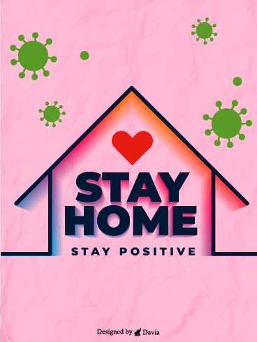 Stay Healthy – Stay at Home Cards