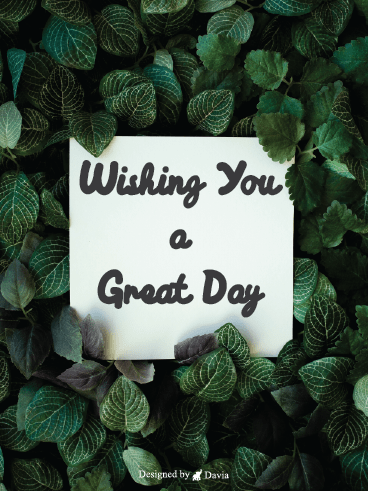 Green Leaves - Have a Great Day Cards