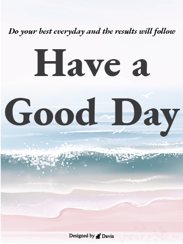 Beach - Have a Great Day Cards