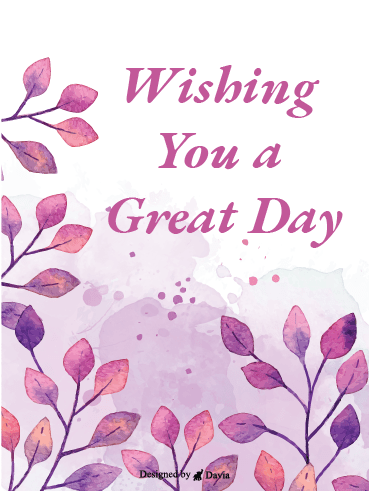 Warm Gesture - Have a Great Day Cards
