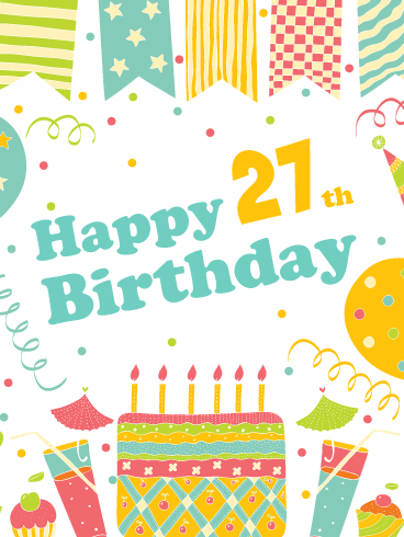 A Festive Celebration! Happy 27th Birthday Card