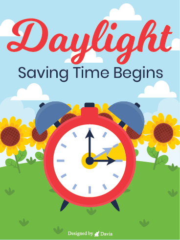 Sunflowers - Daylight Time Saving Begins