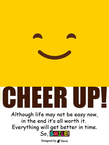 Smiley  – Cheer Up Cards