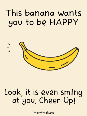 Banana Smile  – Cheer Up Cards
